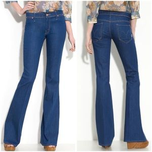 Mother The Curfew flare leg stretch jeans